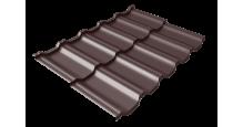 Металлочерепица для крыши Grand Line в цвете RAL 6005 зеленый мох в Серпухове Kvinta Uno